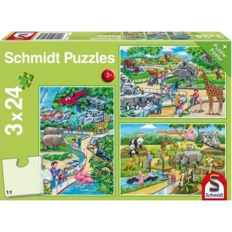 Schmidt - Ζωολογικός κήπος Puzzle (3x24st) (56218)