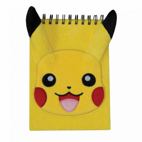 Σημειωματάριο Α6 λούτρινο Pikachu (Pokemon)