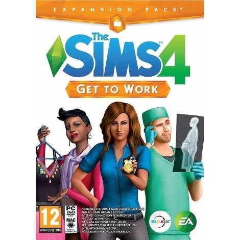SIMS 4 GET TO WORK (CD KEY ONLY) (PC)