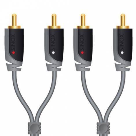 Sinox Audio Cable 2x RCA male - 2x RCA male 2m (SXA4202)