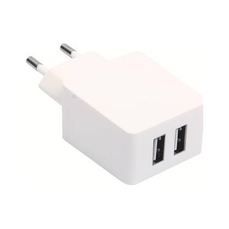 Sinox φορτιστής σπιτιού Dual usb 2.4A | 1A for Smartphone/Tablet (SXI704)