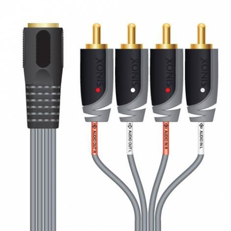 Sinox   RCA 4 x DIN 5 °F Cable 0.2 m (SXA1800)