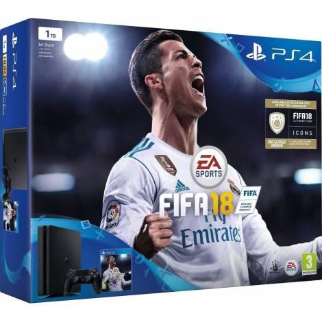 Sony Playstation 4 Console 1TB Slim & Fifa 18 World Cup Edition - Bundle (PS4)