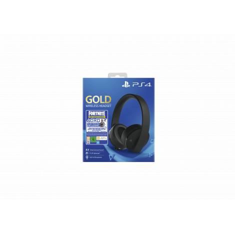 Sony PlayStation 4 Gold Wireless Stereo Headset & Fortnite Voucher