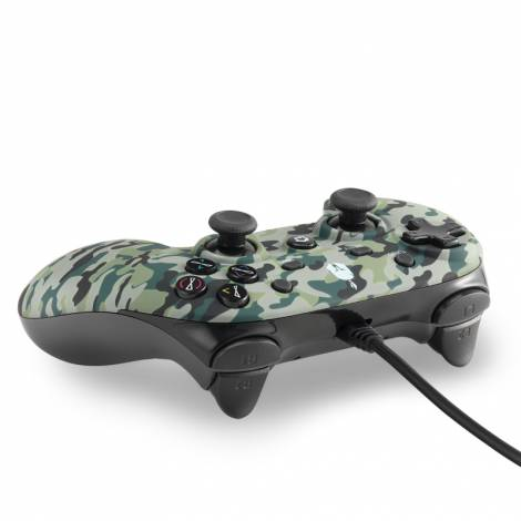 Spartan Gear Oplon Wired Controller for  (Colour: Green Camouflage) (PC/ PS3)