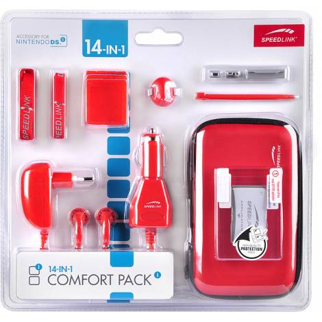 SPEEDLINK SL-5558-SRD COMFORT PACK FOR NDSI,14IN1, RED