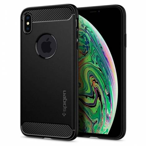 SPIGEN IPHONE XS MAX CASE RUGGED ARMOR MATTE BLACK