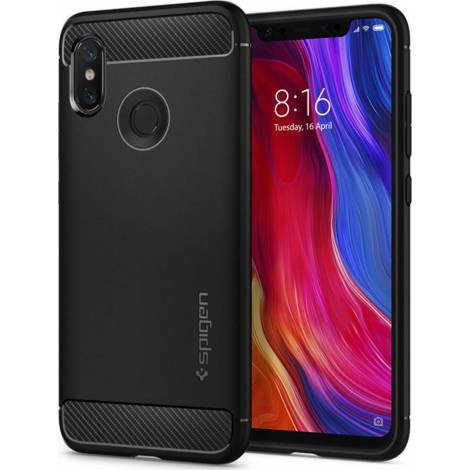 SPIGEN XIAOMI MI 8 CASE RUGGED ARMOR BLACK