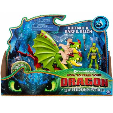 Spin Master How to Train Your Dragon: Dragon & Viking - Ruffnut & Barf & Belch (20108944)