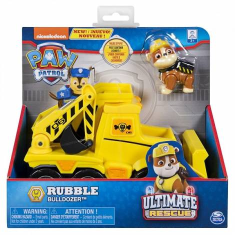 Spin Master - Paw Patrol Ultimate Rescue Basic Vehicles - Rubble Bulldozer (20101539)