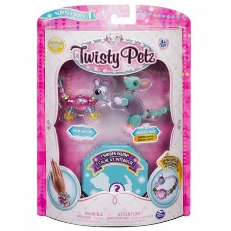 Spin Master - Twisty Petz Three Pack Figures - Pixie Mouse & Radiant Roo (20103207)