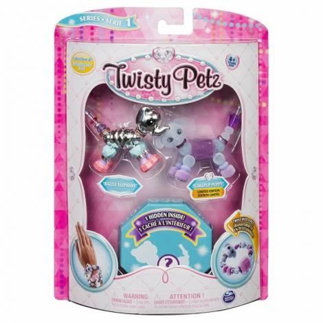 Spin Master - Twisty Petz Three Pack Figures - Razzle Elephant & Pupsicle Puppy (20103204)
