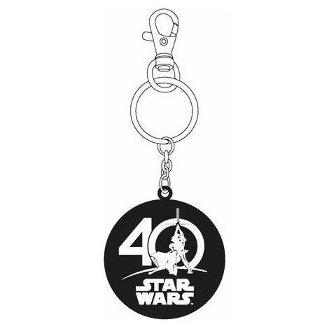 STAR WARS - 40th ANNIVERSARY LIMITED EDITION - LOGO METAL KEYCHAIN (SDTSDT20320)
