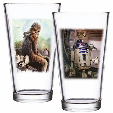 Star Wars - Chewbacca & R2-D2 Set of 2 Pint Glass Set 473ml (SW05368)