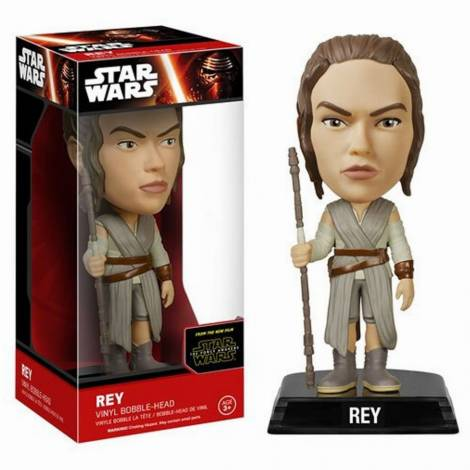 STAR WARS EPISODE 7 - REY BOBBLE-HEAD FIGURE (15cm)