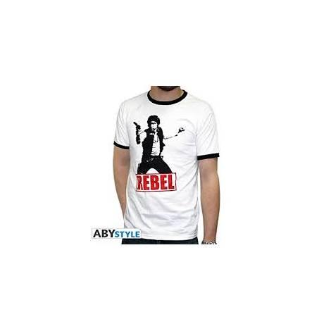 Star Wars - Han Solo Rebel - Man White T-shirt - Size (S,M,L,XL,XXL)