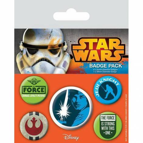 STAR WARS - JEDI PIN BADGE PACK (5 PINS) (BP80454)