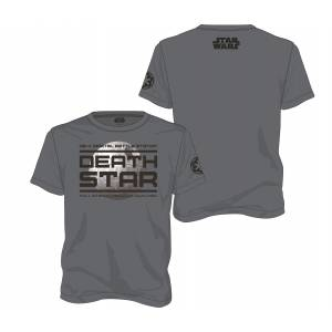 STAR WARS ROGUE ONE - DEATH STAR GREY MEN T-SHIRT - SIZE M (SDTSDT20569)
