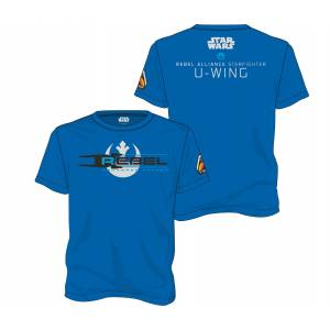 STAR WARS ROGUE ONE - SQUADRON LEADER BLUE MEN T-SHIRT