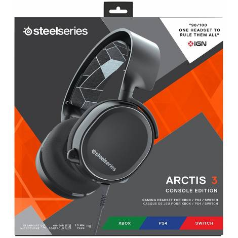 SteelSeries Arctis 3 Console - Console Gaming Headset for  (PlayStation 4/Xbox One/Nintendo Switch)  (Black)