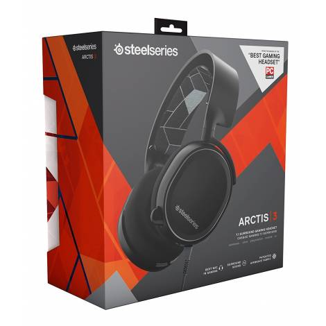SteelSeries Arctis 3 - Gaming Headset, 7.1 Surround - Black (PC,XBOXONE,PS4,MOBILE,VR)