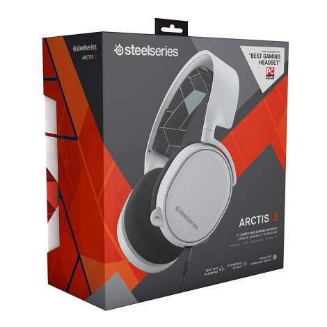 SteelSeries Arctis 3 - Gaming Headset, 7.1 Surround - White (PC,XBOXONE,PS4,MOBILE,VR)