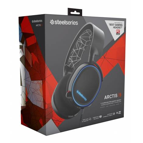 SteelSeries Arctis 5 - Gaming Headset, DTS 7.1 Surround - Black (PC,XBOXONE,PS4,MOBILE,VR)