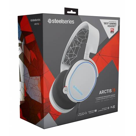 SteelSeries Arctis 5 - Gaming Headset, DTS 7.1 Surround - White (PC)