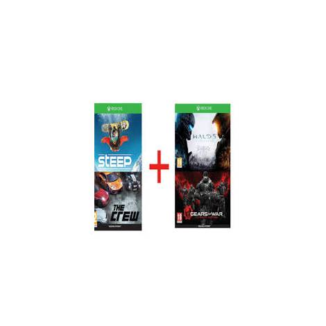 Steep & The Crew + Halo 5: Guardians & Gears of War Ultimate Edition (Voucher Codes)  (Xbox One)