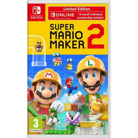 SUPER MARIO MAKER 2 (LIMITED EDITION) & NSO & Stylus (Nintendo Switch)