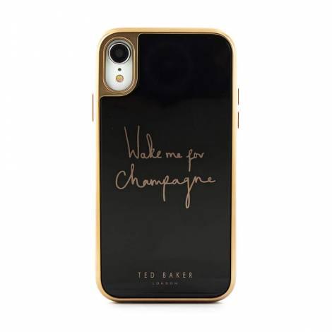 TED BAKER GLASS INLAY θήκη για IPHONE XR CHAMPAGNE BLACK