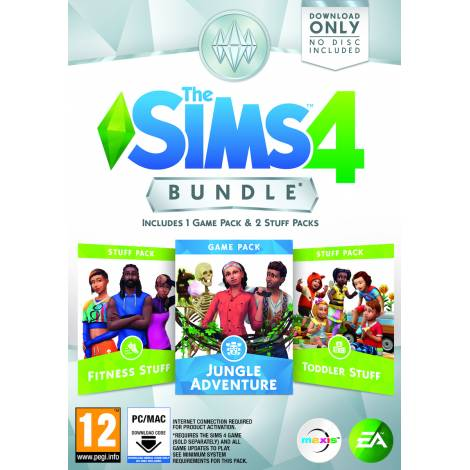 The Sims 4 Bundle Pack 11 (Fitness Stuff - Jungle Adventure - Toddler Stuff) (PC)