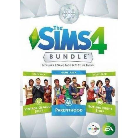 The Sims 4 Bundle Pack (Parenthood - Bowling Night - Vintage Glamour) (PC) (Cd Key Only κωδικός μόνο)