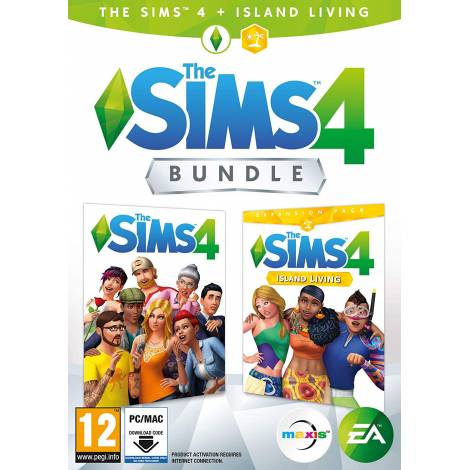 THE SIMS 4 + THE SIMS 4 EP7 (ISLAND LIVING) BUNDLE (Code In a Box) (PC)