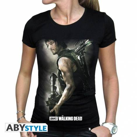 The Walking Dead - Daryl Crossbow - Woman Black T-shirt - Size (S,M,L,XL)