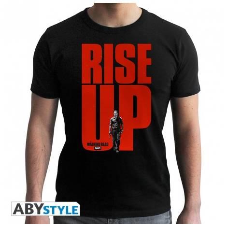 The Walking Dead - Rise UP - Man Black T-shirt - Size (S,M,L,XL,XXL)