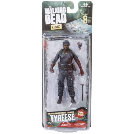 THE WALKING DEAD TV SERIES 8 TYREESE (W/JUDITH) SOLIDS ONLY ACTION FIGURE (18cm)