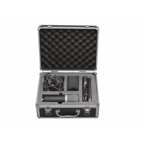 Trust 21753 Emita Studio USB Microphone and Stand for PC and Laptop, USB Connected, Black with Aluminium case