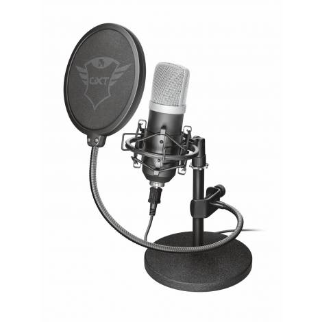 Trust 21753 Emita Studio USB Microphone and Stand for PC and Laptop, USB Connected, Black