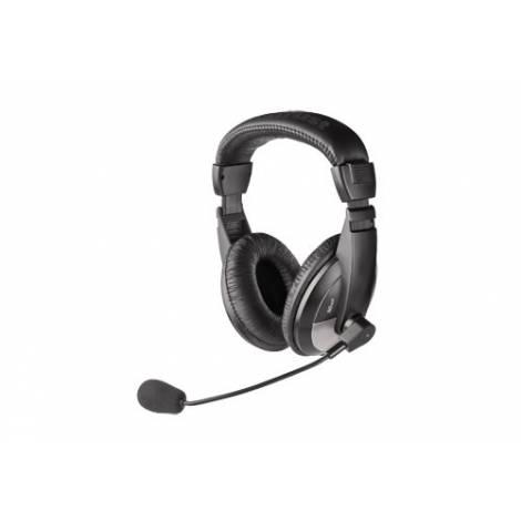 TRUST  HEADSET QUASAR PC  BLACK (21661)