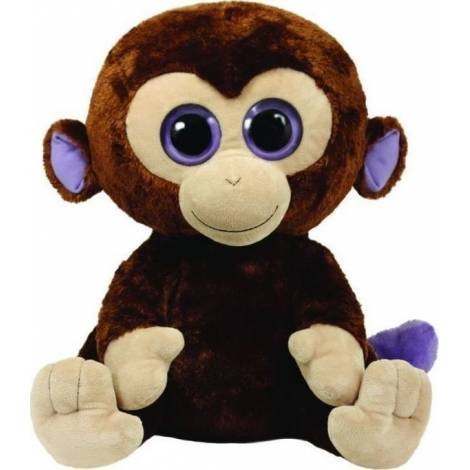 TY BEANIE BOOS - COCONUT MONKEY EXTRA LARGE BROWN PLUSH TOY (40cm) (1607-36800)
