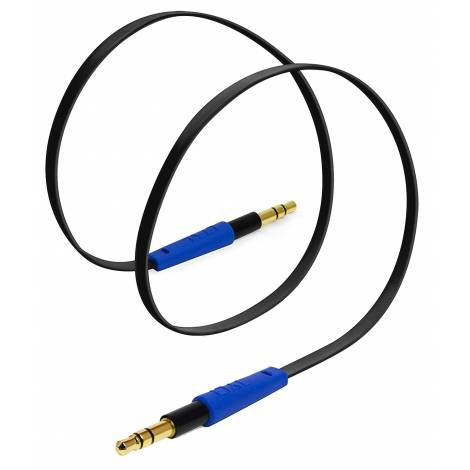 Tylt AUX 3.5mm Stereo Auxiliary Cable - Blue (AUXCAB1MBL-T)