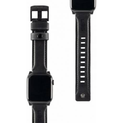 UAG Leather Strap for Apple Watch (42/44mm), Black