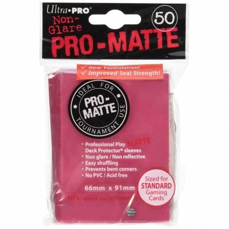 Ultra Pro Matte Standard 50 Sleeves Fuchsia