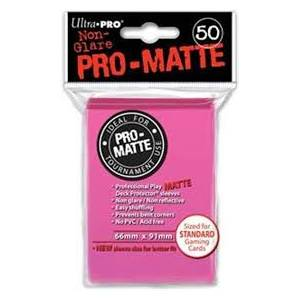 Ultra Pro  Matte Standard 50 Sleeves Bright Pink