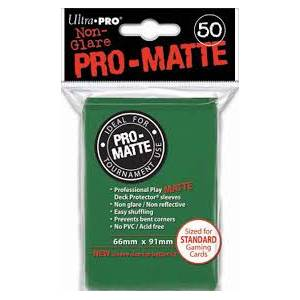 Ultra Pro - Pro Matte Standard 50 Sleeves Green