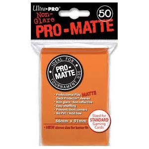 Ultra Pro - Pro Matte Standard 50 Sleeves Orange