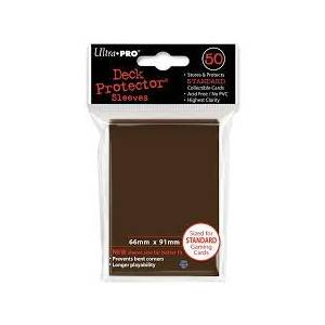 Ultra Pro - Standard 50 Sleeves Solid Brown