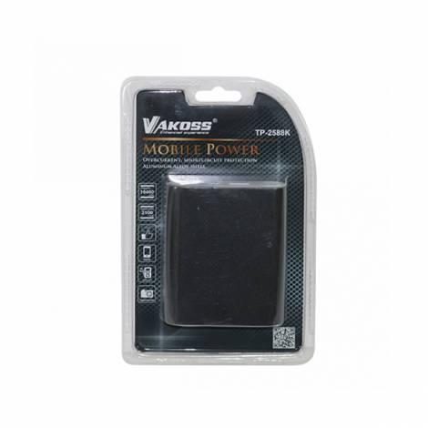 Vakoss Φορητός Φορτιστής 10400mA Power Bank μαύρο TP-2588K