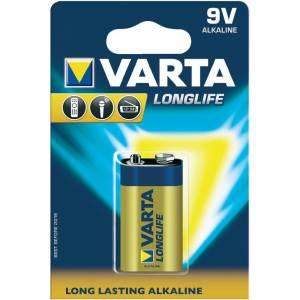 VARTA ALKALINE LONG LIFE 6LR61/ΠΛΑΚΕ Ε 9V - 1 PACK